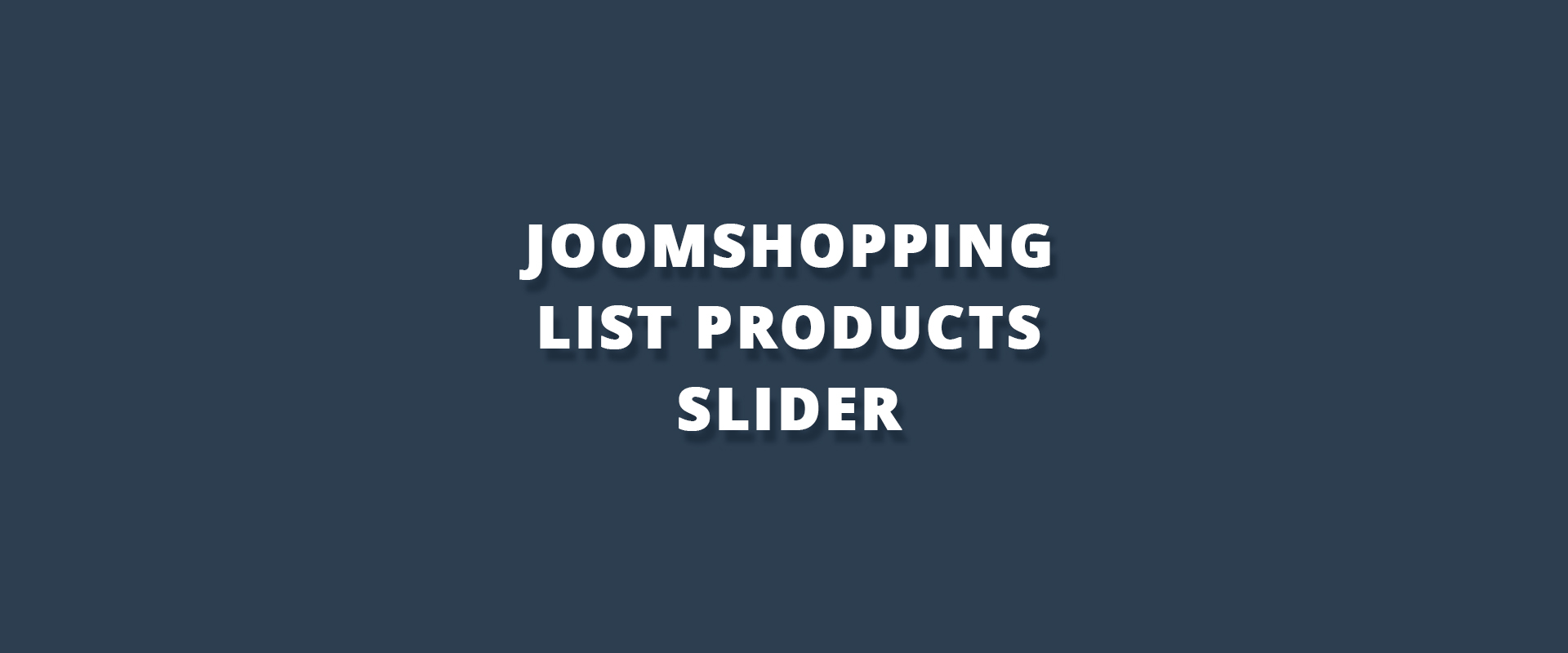 JoomShopping List Products Slider